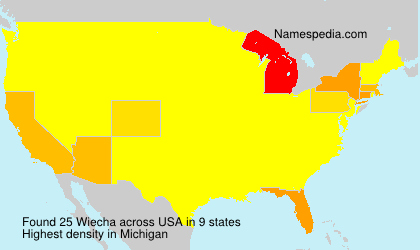 Surname Wiecha in USA