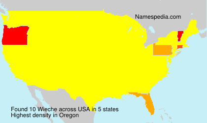Surname Wieche in USA