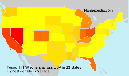 Surname Wiechers in USA