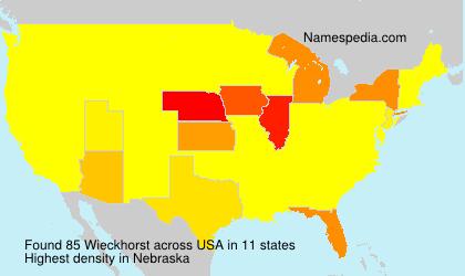 Surname Wieckhorst in USA
