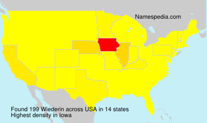 Surname Wiederin in USA