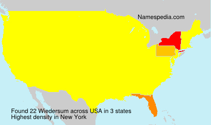 Surname Wiedersum in USA