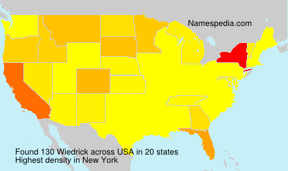 Surname Wiedrick in USA