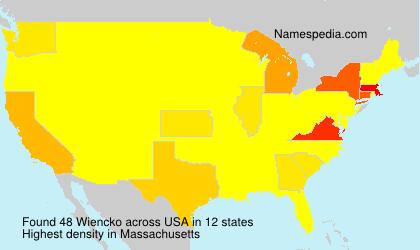 Surname Wiencko in USA