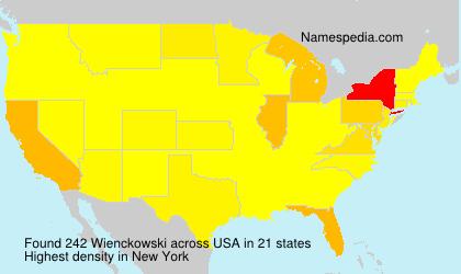 Familiennamen Wienckowski - USA