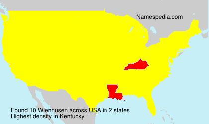 Surname Wienhusen in USA