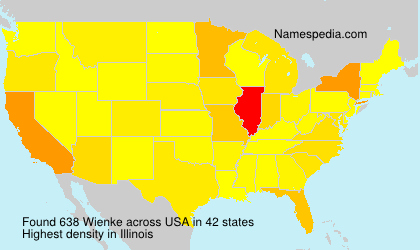 Surname Wienke in USA