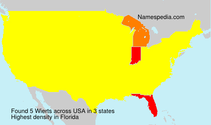 Surname Wierts in USA