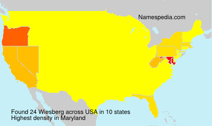 Surname Wiesberg in USA