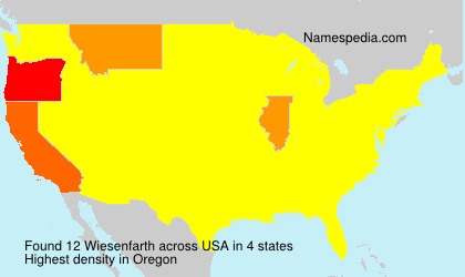 Surname Wiesenfarth in USA