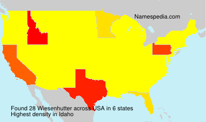 Surname Wiesenhutter in USA