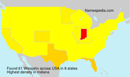 Surname Wiesjahn in USA