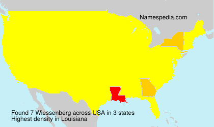 Surname Wiessenberg in USA