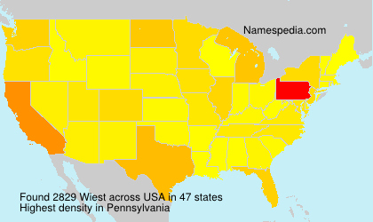 Surname Wiest in USA