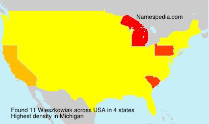 Familiennamen Wieszkowiak - USA