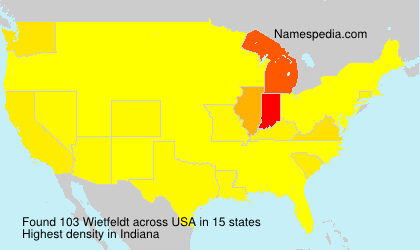 Surname Wietfeldt in USA