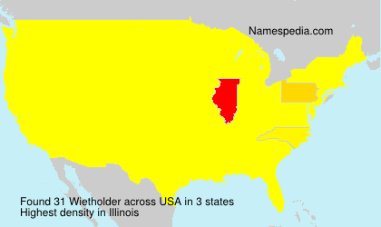 Surname Wietholder in USA