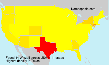 Surname Wigzell in USA