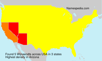 Surname Wijnaendts in USA
