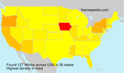 Surname Wilcke in USA