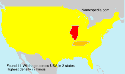 Surname Wildhage in USA