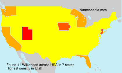 Surname Wilkensen in USA