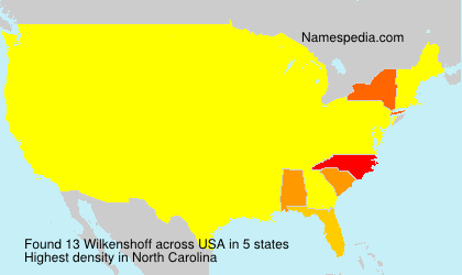 Surname Wilkenshoff in USA