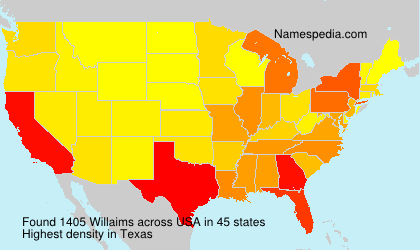 Surname Willaims in USA