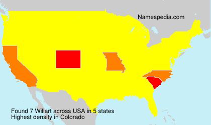 Surname Willart in USA