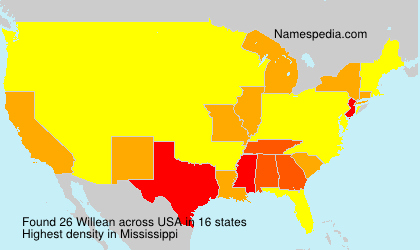 Surname Willean in USA