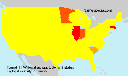 Surname Willegal in USA
