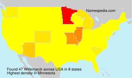 Familiennamen Willemarck - USA
