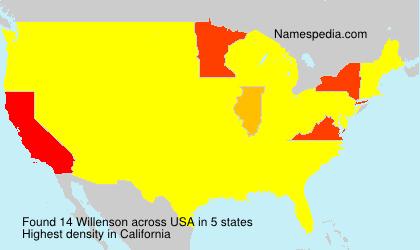 Surname Willenson in USA