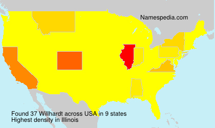 Surname Willhardt in USA