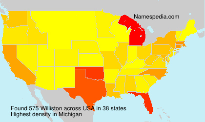 Surname Williston in USA