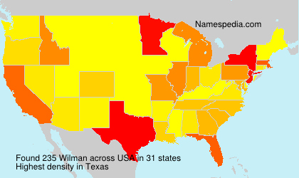 Surname Wilman in USA