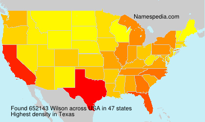 Surname Wilson in USA
