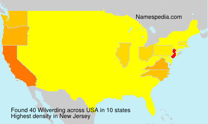Surname Wilverding in USA