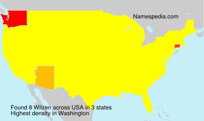 Surname Wilzen in USA