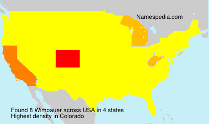 Surname Wimbauer in USA