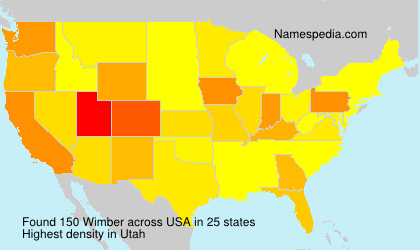 Surname Wimber in USA