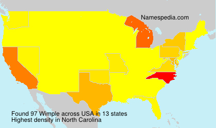 Surname Wimple in USA
