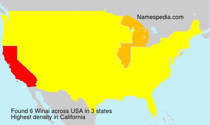 Surname Winai in USA