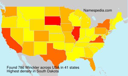 Familiennamen Winckler - USA