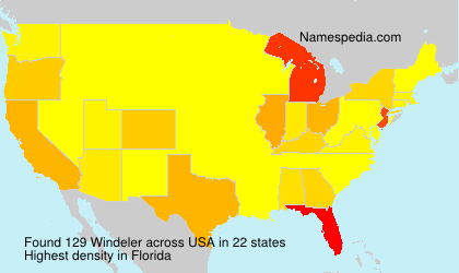 Surname Windeler in USA