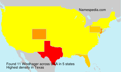 Surname Windhager in USA