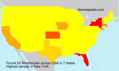 Surname Windheuser in USA