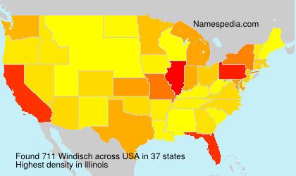 Surname Windisch in USA