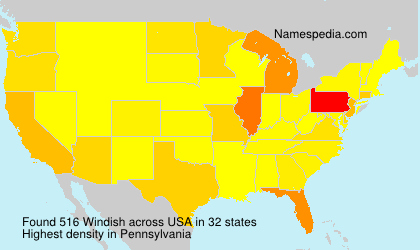 Surname Windish in USA