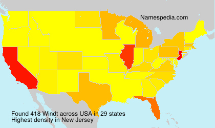 Surname Windt in USA